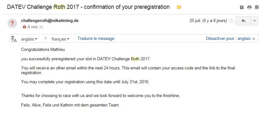 Roth preregistration